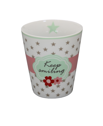 Becher Happy Mug Keep Smiling von Krasilnikoff
