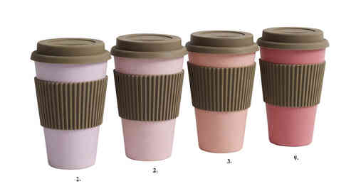 Coffee to go Becher von Nordal, rose/corale