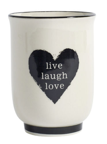 "Becher""live/laugh/love""von Nordal"