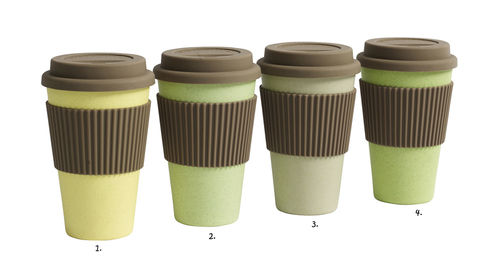 Coffee to go Becher von Nordal, green/yellow