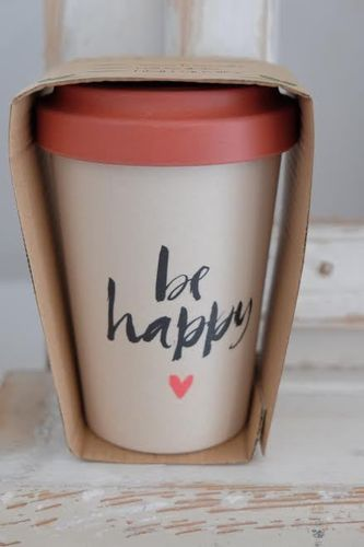 Becher BambooCup Happy Calligraphy