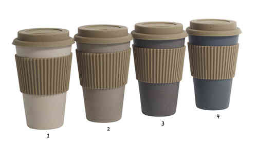 Coffee to go Becher von Nordal, grey /natural