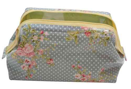 Cosmetic Bag-Flora-Dusty