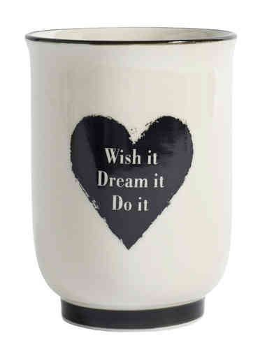 "Becher ""wish it/dream it/do it"" von Nordal"