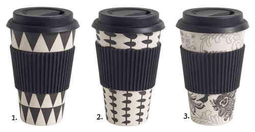 Coffee to go Becher von Nordal, black/white