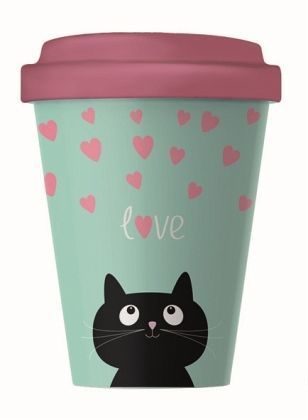 Becher BambooCup Kitty Love
