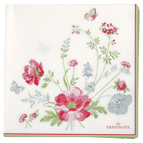 GreenGate Meadow white Papierservietten