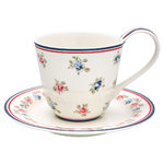 Greengate Hailey white cup & saucer