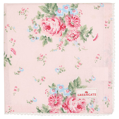 Greengate Marley pale pink Napkin with lace