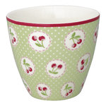 Cherry Berry Latte Cup pale green von Greengate
