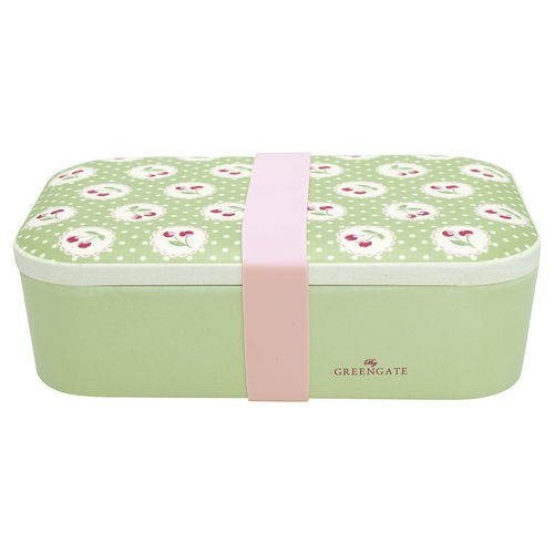 Cherry Berry Lunch Box pale green von Greengate
