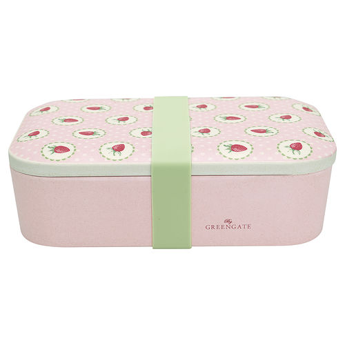 Strawberry Lunch Box pale pink von Greengate