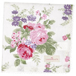 Rose Stoffserviette white von Greengate