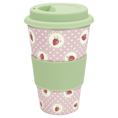 Becher-to-Go Strawberry Pale Pink von Greengate