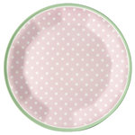 GreenGate Melamine Plate Spot Pale Pink